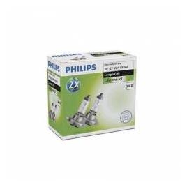 Set 2 becuri far H7 55W 12V Philips LongerLife