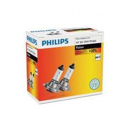 Set 2 becuri farH7 60/55W 12V Vision Philips +30