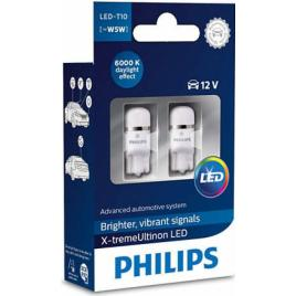 Set 2 becuri led Philips W5W X-tremeUltinon 6000k 12v