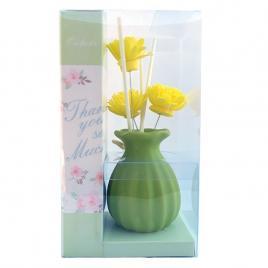 D'orante Clasic-Odorizant de camera - vaza cu crizanteme si sticluta de parfum