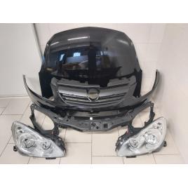 Fata Completa Motor Opel Corsa D 2006-2011 Z20R Negru Bara + Capota + Faruri + Trager + Suporti