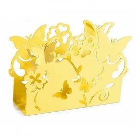 Suport pentru servetele metal galben cm 15 cm x 4 cm x 10 cm
