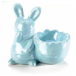 Suport ou ceramica albastra sidef 8,5 cm x 5 cm x 8 h