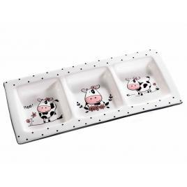 Platou din ceramica cu 3 compatimente 31 cm x 14 cm x 3,5 h