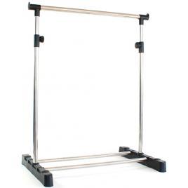 2 x suport de haine din metal pentru umerase cu inaltime reglabila pana la 116cm