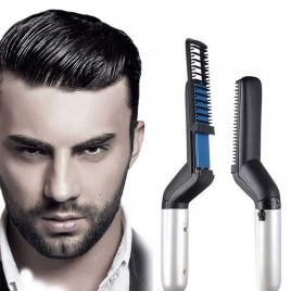 Placa de indreptat parul si barba Modelling Comb, 10 W, incalzire rapida, Negru