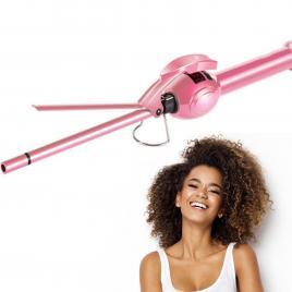 Ondulator Par Profesional Ultra-Slim, TotulPerfect Turmaline Ceramic Bucle Afro 8mm, 35W Display LCD, Barbie Pink