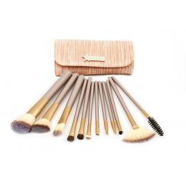 Set 12 pensule machiaj Cosmetic - Make-up Profesional Chocolate  + Trusa Corector + Burete Machiaj Cadou!