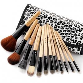 Set 12 pensule machiaj Cosmetic Par Natural-Sintetic Make-up Profesional  + Trusa Corector + Burete Machiaj Cadou!