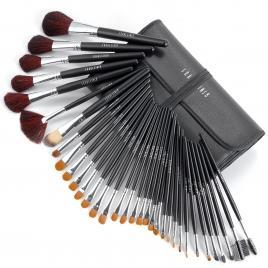 Set 34 pensule machiaj Cosmetic - Make-up Profesional+ Trusa Fard Pleoape + Burete Machiaj Black