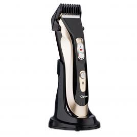 Aparat de Tuns Profesional Reincarcabil, Trimmer Electric Rezistent la Apa Turbo Salon, IClipper A5, Gold