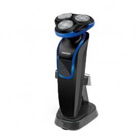 Aparat Ras - 3 capete cu rotire 4D Shaver - Barbierit Electric Pritech Profesional Albastru