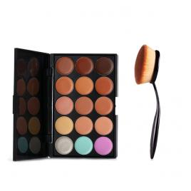 Pensula Ovala machiaj Cosmetic Make-up Profesionala + Trusa Corector + Burete Machiaj Cadou!