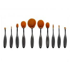 Set 10 Pensule Ovale machiaj Cosmetic Make-up Profesionale