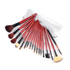 Set 18 pensule machiaj Cosmetic Silver - Make-up Profesional  + Trusa Corector + Burete Machiaj