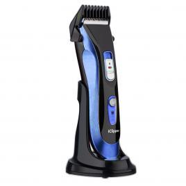Aparat de Tuns Profesional Reincarcabil, Trimmer Electric Rezistent la Apa Turbo Salon, IClipper A5, Blue