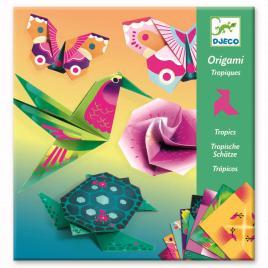 Set creativ origami djeco - animale si flori exotice