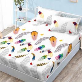Husă pat finet+2 fețe pernă, ralex, culoare multicolor, model hf22