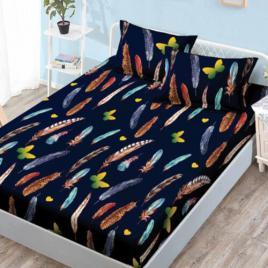 Husă pat finet+2 fețe pernă, ralex, culoare multicolor, model hf27