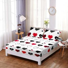 Husă pat finet+2 fețe pernă, ralex, culoare multicolor, model hf29