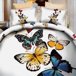 Lenjerie de pat digital print 3d, ralex, model butterflyes