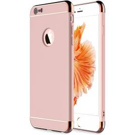 Husa pentru Apple iPhone 6/6S, GloMax 3in1 PerfectFit, Rose-Gold