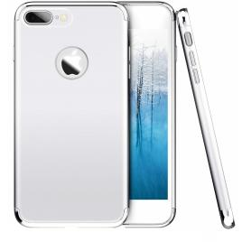 Husa pentru Apple iPhone 7 Plus, GloMax 3in1 PerfectFit, Silver