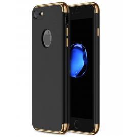 Husa pentru Apple iPhone 8, GloMax 3in1 PerfectFit, Negru