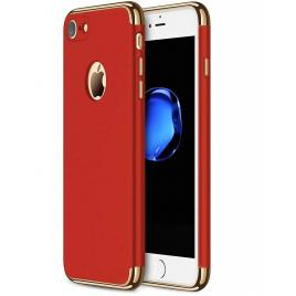 Husa pentru Apple iPhone 8, GloMax 3in1 PerfectFit, Rosu