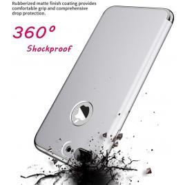 Husa pentru Apple iPhone 8 Plus, GloMax 3in1 PerfectFit, Silver