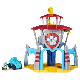 Turnul de control dino cu vehicul si catelus exclusiv rex patrula catelusilor