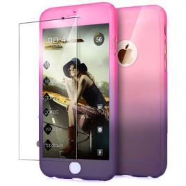 Husa GloMax FullBody Degrade pentru Apple iPhone 8 Plus cu folie de sticla inclusa