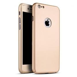Husa GloMax FullBody Gold pentru Apple iPhone 8 cu folie de sticla inclusa
