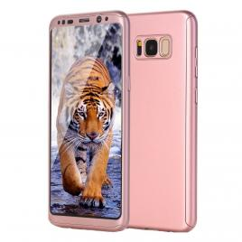 Husa GloMax FullBody Rose-Gold pentru Samsung Galaxy S8 Plus cu folie de sticla inclusa