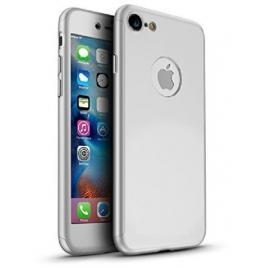 Husa GloMax FullBody Silver pentru Apple iPhone 7 cu folie de sticla inclusa