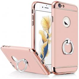 Husa pentru Apple iPhone 6/6S, GloMax 3in1 Ring PerfectFit, Rose-Gold