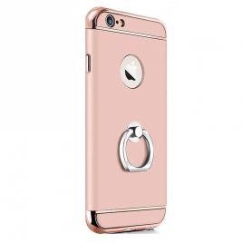 Husa pentru Apple iPhone 6 Plus / 6S Plus, GloMax 3in1 Ring PerfectFit, Rose-Gold