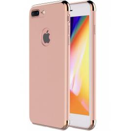 Husa pentru Apple iPhone 7 Plus, GloMax 3in1 PerfectFit, Rose-Gold
