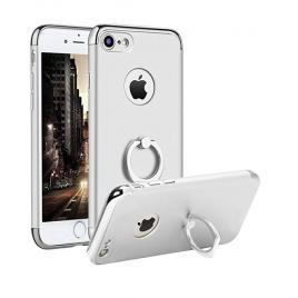 Husa pentru Apple iPhone 7 Plus, GloMax 3in1 Ring PerfectFit, Silver