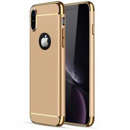 Husa pentru Apple iPhone X, GloMax 3in1 PerfectFit, Gold