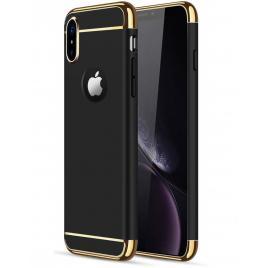 Husa pentru Apple iPhone X, GloMax 3in1 PerfectFit, Negru