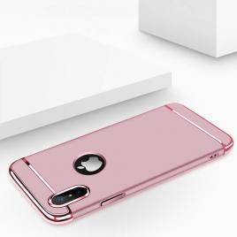 Husa pentru Apple iPhone X, GloMax 3in1 PerfectFit, Rose-Gold