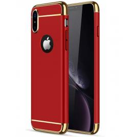 Husa pentru Apple iPhone X, GloMax 3in1 PerfectFit, Rosu