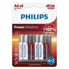 Baterie lr6 tip aa power alkaline 6 buc philips