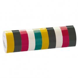 Benzi izolatoare multicolor 19x0.13mm / 10m, 10/set