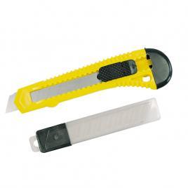 Set cutter plastic cu buton blocare cu 10 lame - 18mm