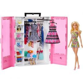 Dulapior cu hainute si papusa barbie fashionistas