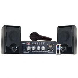 Set boxe karaoke cu amplificator 100w cu bluetooth, usb, sd
