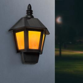 Garden of Eden - Lampă solară LED de perete 2 în 1, cu efect flacără, alb rece - 11244
