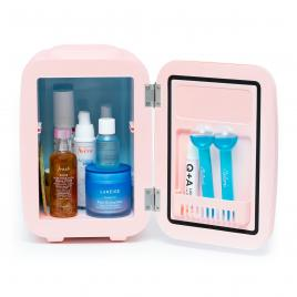Mini frigider cosmetice Blossom Pink, Meloni, dubla functie de incalzire/racire, 4L